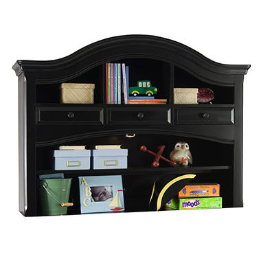 Hamilton Collection Combo Dresser Hutch - Antique Black