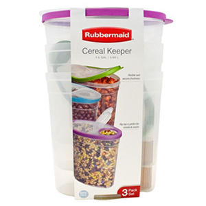 Rubbermaid Cereal Keeper 3-Pack  -  Assorted Colors