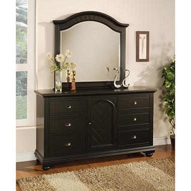 Addison Black Dresser and Mirror .