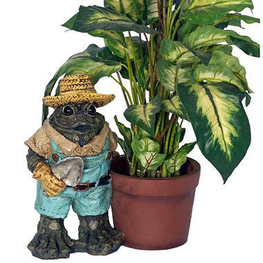 Standing Gardener Toad with Pot