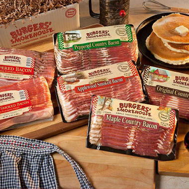 Burgers' Smokehouse Ultimate Bacon Sampler (1 lb. pack, 6 ct.)