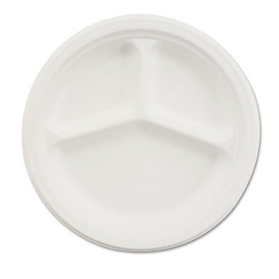 "Chinet 3-Compartment Paper Plate, 10 1/4"" (500 ct.)"