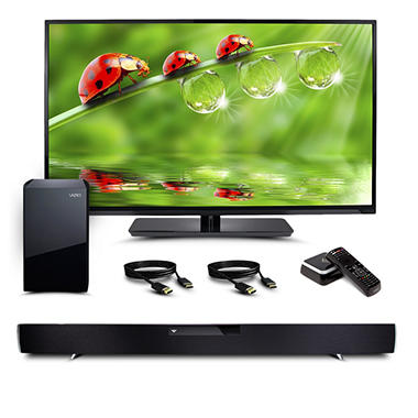 "VIZIO 42"" HDTV Home Entertainment Bundle - TV, Soundbar, HDMI Cables, Costar Streaming Player"