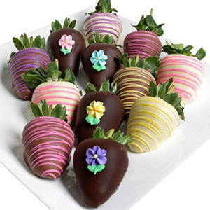 Spring Belgian Chocolate-Covered Strawberries (12 pc.)