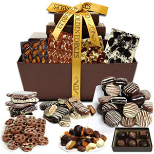 Artisan Delectable Chocolate Snacks Gift Basket