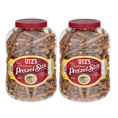 Utz Country Store Pretzel Stix Barrels - 55 oz. each - 2 pk.