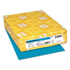 Wausau Paper - Astrobrights Colored Paper, 8-1/2 x 11, Celestial Blue - 500 Sheets/Ream