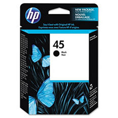 HP 45 Original Ink Cartridge, Black (930 Page Yield)