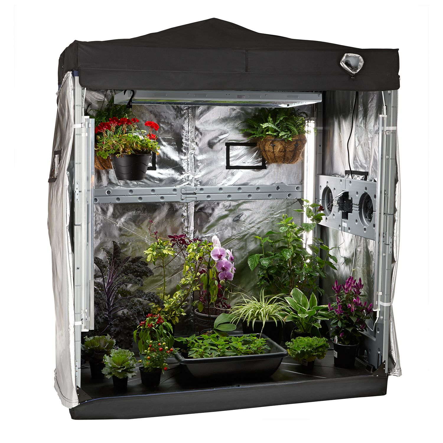 Herb Kits For Indoors: Indoor Greenhouse Grow Light Tent Garden Kit Hydroponic