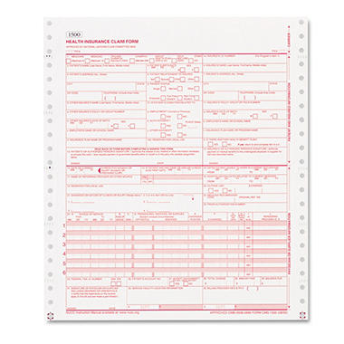 Paris Business Products - CMS Forms, 1 Part Continuous White, 9 1/2 x 11 - 2500 Forms
