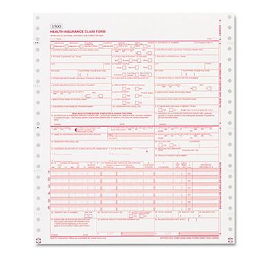 Paris Business Products - CMS Forms, 1 Part Continuous White, 9 1/2 x 11 - 2500 Forms