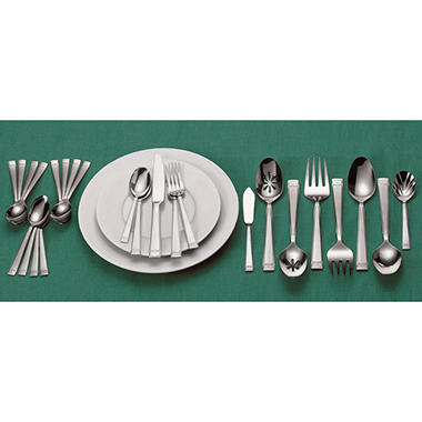 80 Piece Wallace Flatware Set - Leah Design