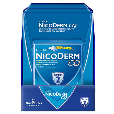 NicoDerm CQ Clear - Step 2 - 14 mg - 21 Patches