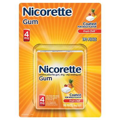 NICORETTE GUM 4 MG FRUIT CHILL 190CT