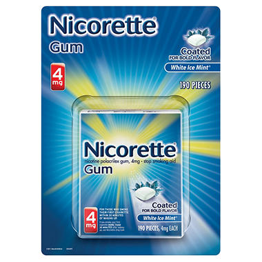 NICORETTE WHITE ICE 4 MG 190 CT