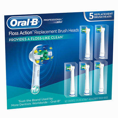 Oral-B Toothbrush Replacement Heads, Floss Action (5 ct.)