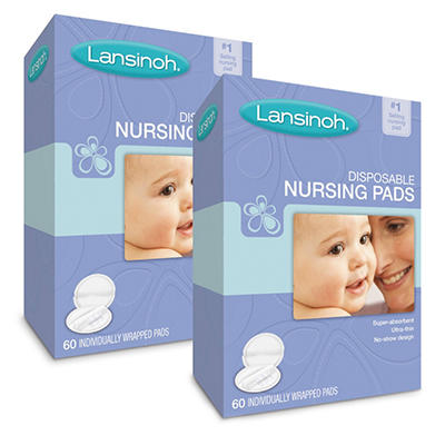 Lansinoh Disposable Nursing Pads, 2/60 ct.