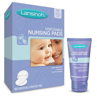 Lansinoh Disposable Nursing Pads and HPA Lanolin