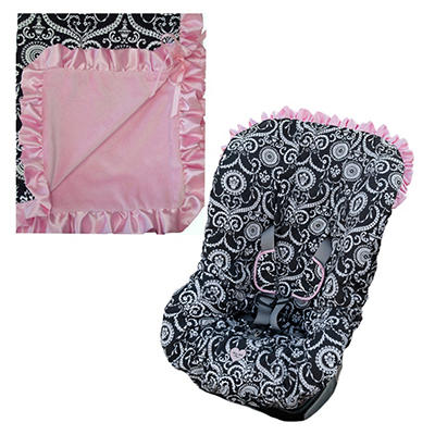 Baby Bella Maya Infant Booster Seat Cover and Blanket - Mid Summer Dream