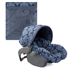 Baby Bella Maya Infant Car Seat Cover and Blanket - Royal Mist