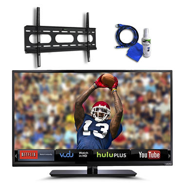 "39"" VIZIO 1080p 120Hz Razor LED Smart TV  w/ Low Profile TV Wall Mount, 8ft HDMI and Cleaning Kit"
