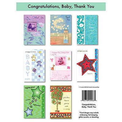 Congrats & Thank You Greeting Cards - 12/6 pks.