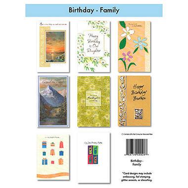 Family Birthday Greeting Cards - 12/6 pks.