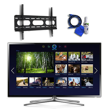 "55"" Samsung LED 1080p CMR 240 Smart HDTV w/ Wi-Fi, Low Profile Mount, 8ft HDMI Cable, and Cleaning Kit"
