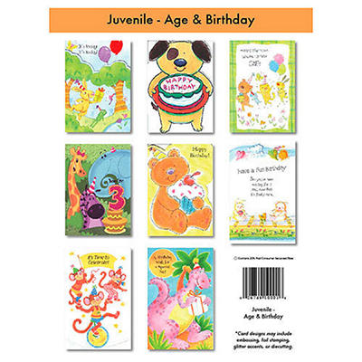 Juvenile & Specific Age Greeting Cards - 12/6 pks.