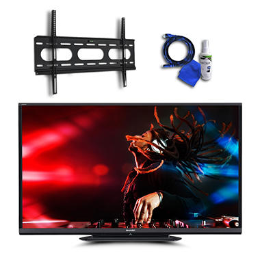 "70"" Sharp Aquos LED 1080p 120Hz Smart HDTV w/ Wi-Fi, Low Profile Mount, 8ft HDMI Cable, and Cleaning Kit"