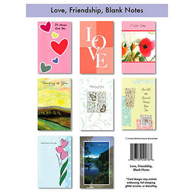 Love, Friendship & Blank Cards - 12/6 pks.