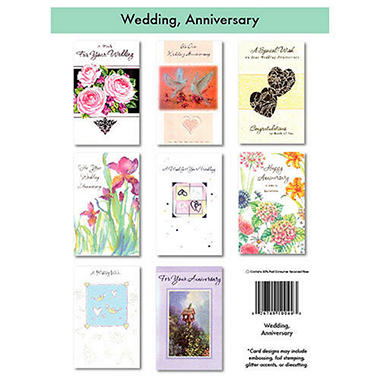 Wedding & Anniversary Cards - 12/6 pks.