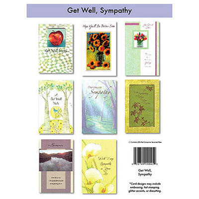 Get Well & Sympathy Cards - 12/6 pks.