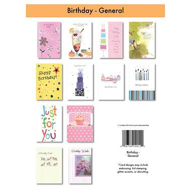 Birthday Greeting Cards - 12/6 pks.