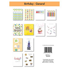 Birthday Greeting Cards - 12/6 pks.