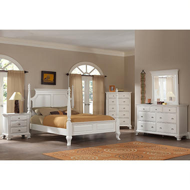 Brinley White Bedroom Set Queen 5 Pc Sam 39 S Club
