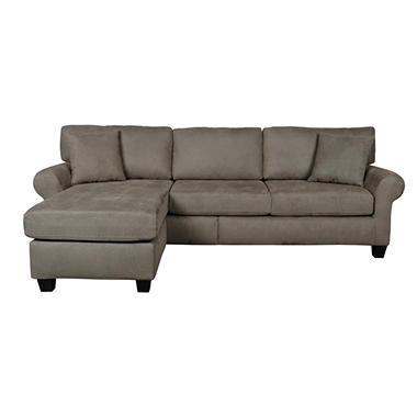 Sofa Smart Lad Rolled-Arm Sectional - Various Colors.