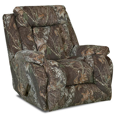 Topsail Mossy Oak® Camouflage Rocking Recliner