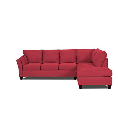 Andrew Right Arm Facing Sectional - Red - 2 pc. .