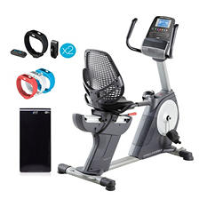 ProForm 4.0 RT Recumbent Bike w/ iFit Active Trackers(2), Module and Wrist Band