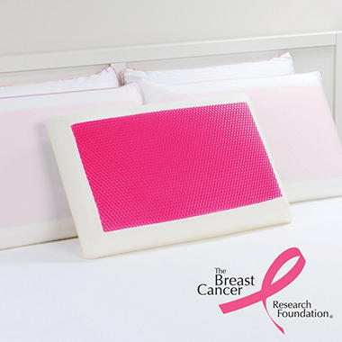 Dreamfinity Cooling Gel and Memory Foam Pillow – Pink