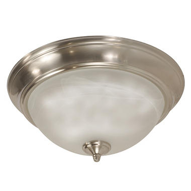 "13"" LED Brushed Nickel Flush Mount Light"