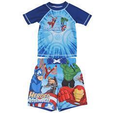 Avengers Rashguard and Swim Trunk Set