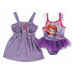 Sofia the First 1 Piece Swimsuit with Matching Cover Up