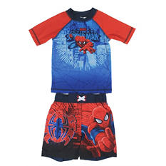 Spiderman Rashguard and Swim Trunk Set