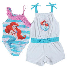 Ariel One-Piece Swimsuit with Matching Cover Up Romper