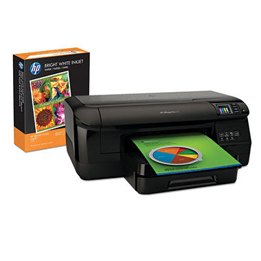 HP Officejet Pro 8100 Wireless Inkjet ePrinter with Your Choice of HP Paper