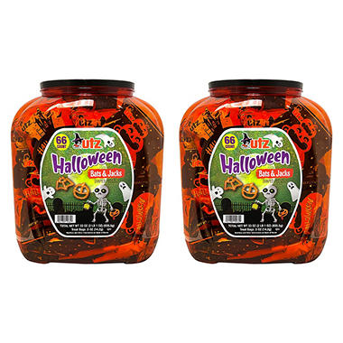 Utz Halloween Shaped Pretzel Treat Barrels - 140 ct.