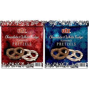 Utz White & Milk Chocolate Pretzel Box  - 32 oz. - 2 pk.