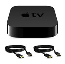 Apple TV w/ Vizio HDMI Cables Bundle